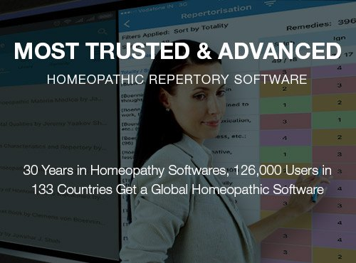 Advanced homeopathy software