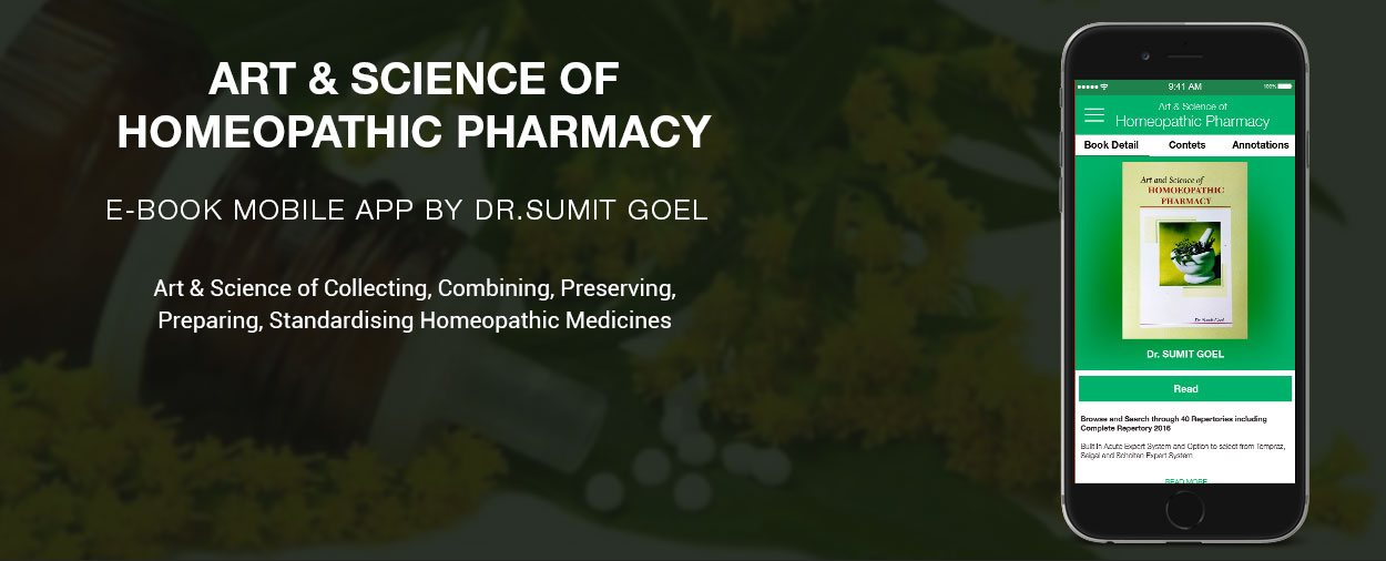 Art & Science of Homeopathic Pharmacy